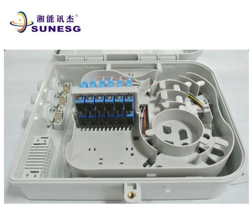 1分8 PC合金分纤箱 网络分纤箱 插片式光分路器