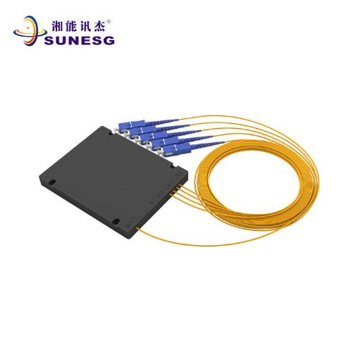SC 电信级 1分4 盒式光纤分路器 插片式光纤分路器